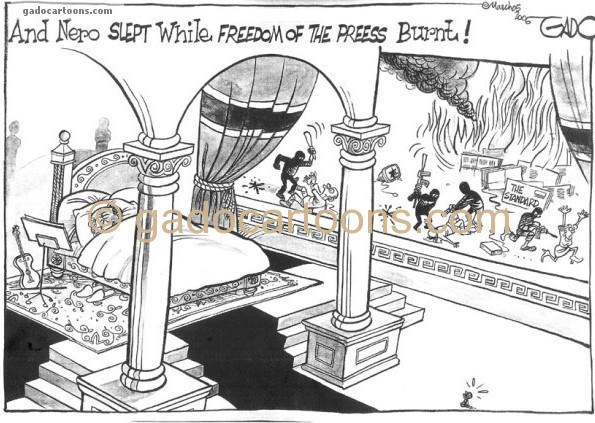 Nero slept while freedom of the press burnt