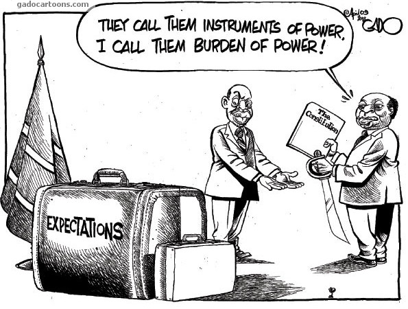They call them instruments of power, I call them burdens of power!