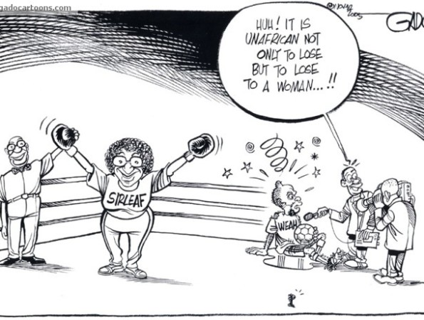 Huh! It is unafrican not only to lose but to lose to a woman