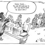 Please, please ..you are not supposed to put your fruits inside the ballot box