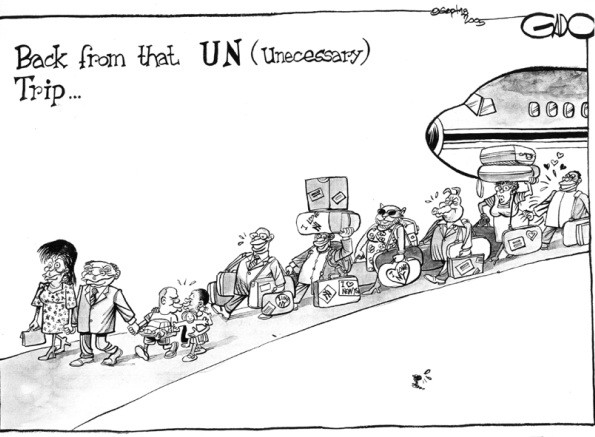 Back from that UN trip