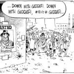 Down with Gaddafi