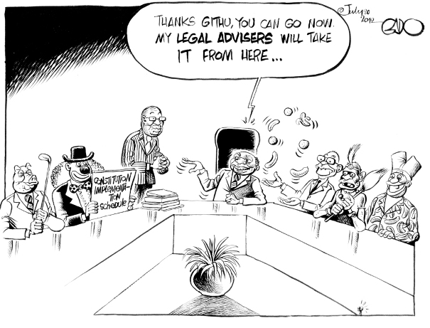 July 20 12 Kibaki and his legal Advisers
