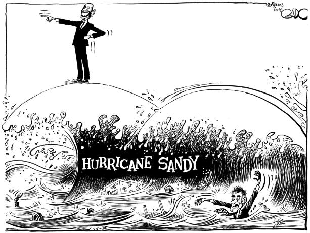 Nov 02 12 Obama, Romney and Hurricane Sandy