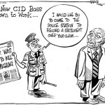 The new CID boss gets down to work