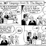 The 'NO' campaign goes to the Hague