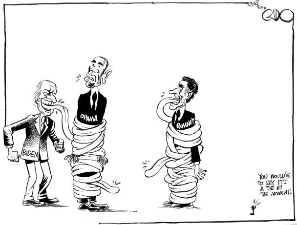 Oct 06 12 Obama Vs Romney. It's a Tie