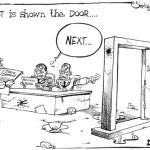 Ghost is shown the door