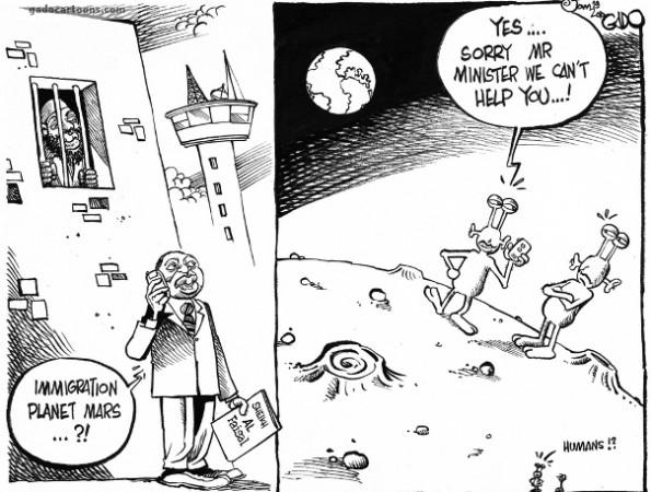 Immigration planet mars?