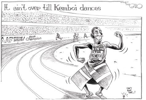 It ain't over till Kemboi dances