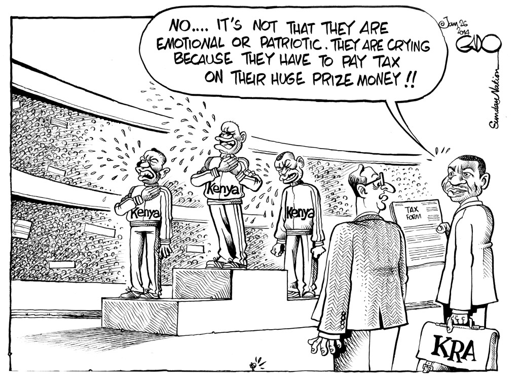 Jan 26 14 Kenya Athletes and Tax