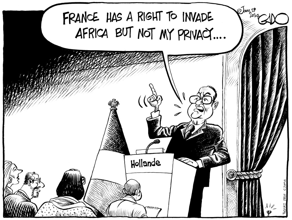 Jan 29 14 France, Africa, Hollande and Privacy