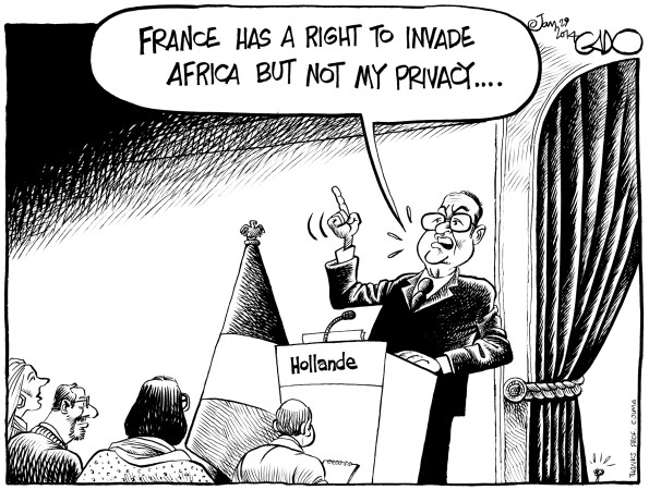 Africa, France, President Hollande, Privacy and the Right of Invasion!