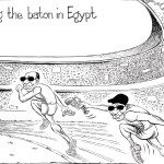 Field Marshal Al Sisi passing the baton in Egypt!