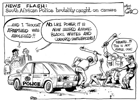 South African police brutality!