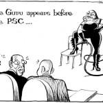 The Guru appears before PSC
