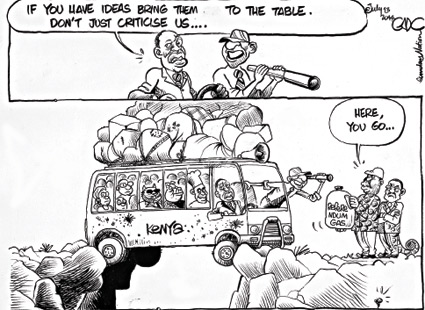 If you have ideas bring them to the table. Don't ust criticise us…#Raila #UhuRuto