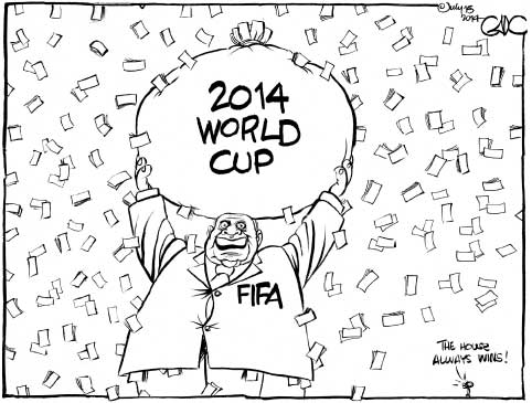 2014 World Cup, The House Always Wins!