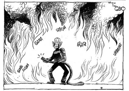 Obama and the world, too many fires…