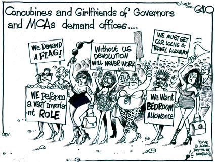 Concubines and Girlfriends of Governors and MCAs demand offices