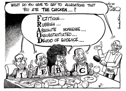 What do you have to say to allegations that you ate the chicken? #IEBC