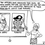 These two officers have abandoned their posts…! #InSecurity