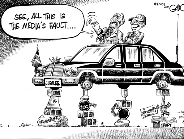 Uhuru Kenyatta: It's all the Media's fault…!