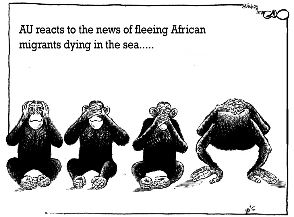 Feb 20 15 AU reacts to the news of Fleeing African Migrants dying in the sea