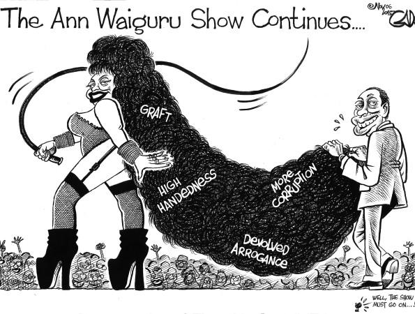 The Ann Waiguru Show Continues