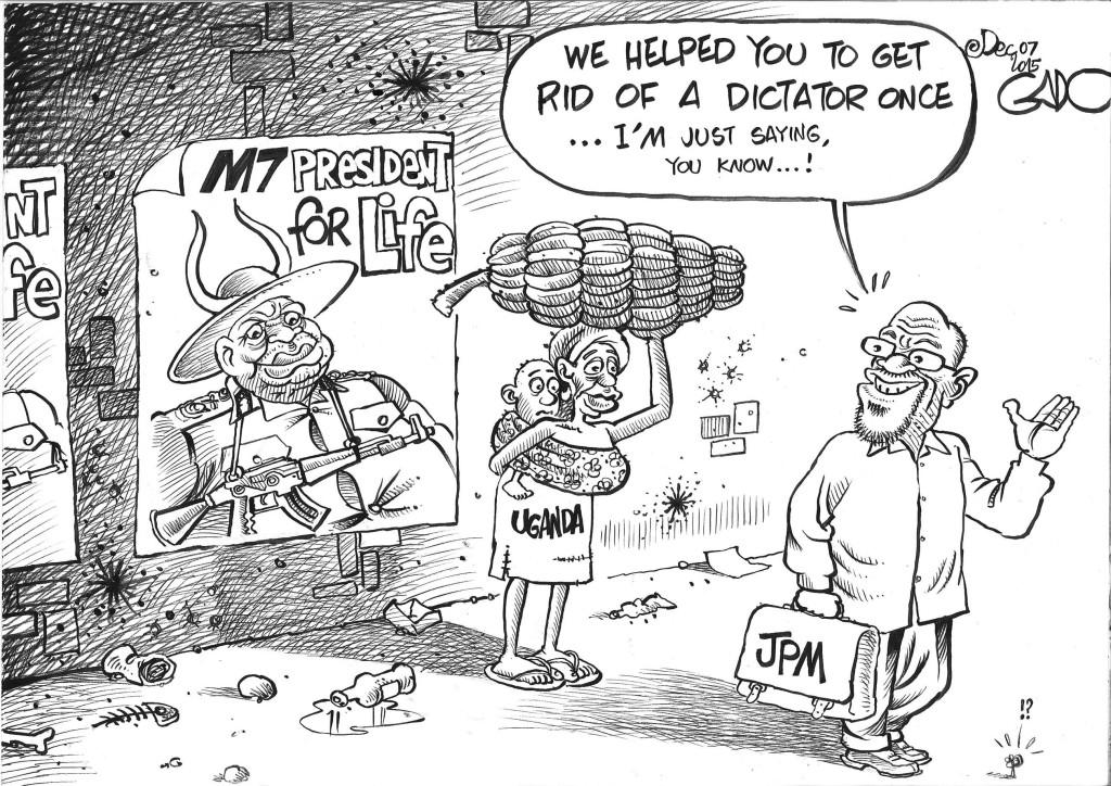 Dce 07 15 JPM, M7 and Uganda