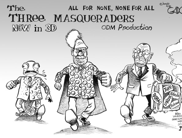 The 3 Masqueraders!. Now in 3D