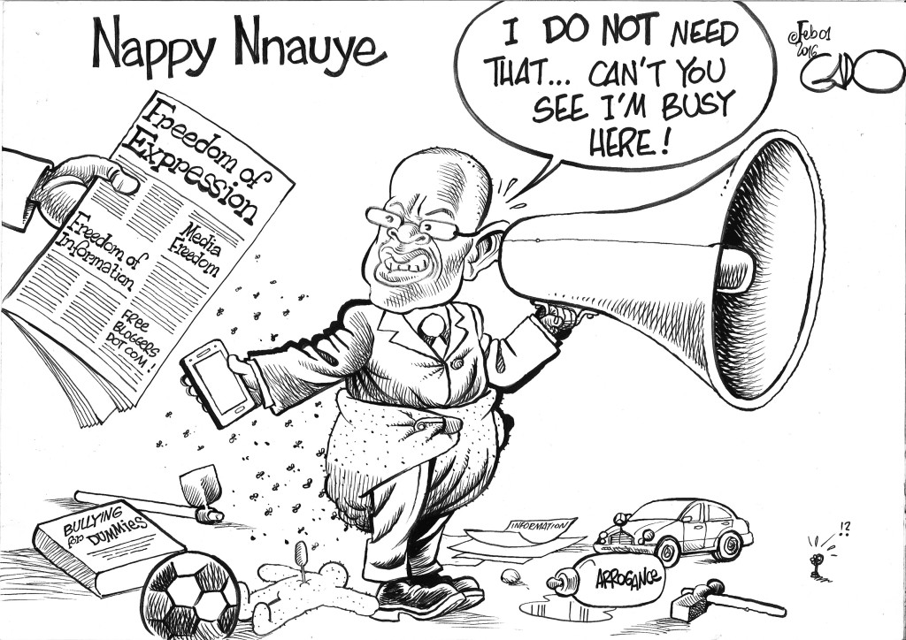 Feb 01 16 Nappy Nnauye Minister of Information TZ