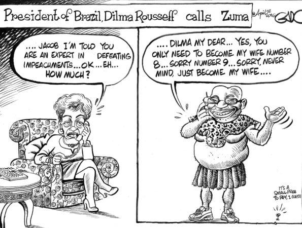 President Dilma Rousseff of Brazil calls President Zuma of South Africa!