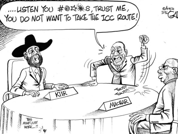 Kiir, Machar, Uhuru and ICC