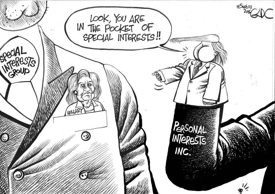 Sept.02.16.HillaryVs.Trump.Special.Intersts.Vs.Personal.Interest