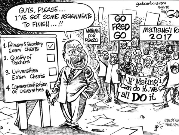 Fred Matiang'i at the Ministry of Education