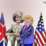Theresa May the first in the queue to deal with Trump!
