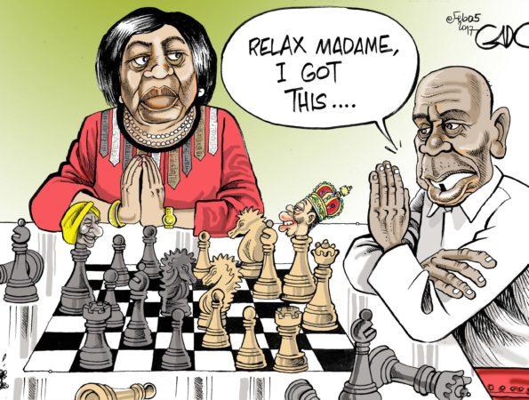 Mama Ngina meets Moi