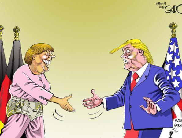 Chancellor Markel Meets President Trump