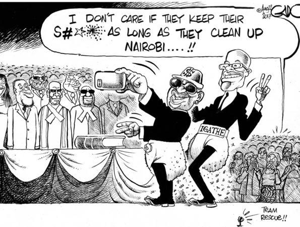 Nairobi Governor and his Deputy