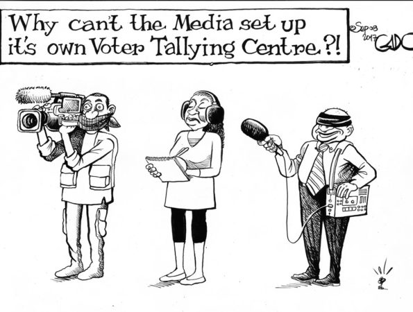 The Media and The Voter Tallying Centre