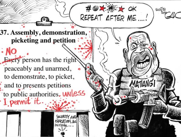 CS Matiangi at Work….!